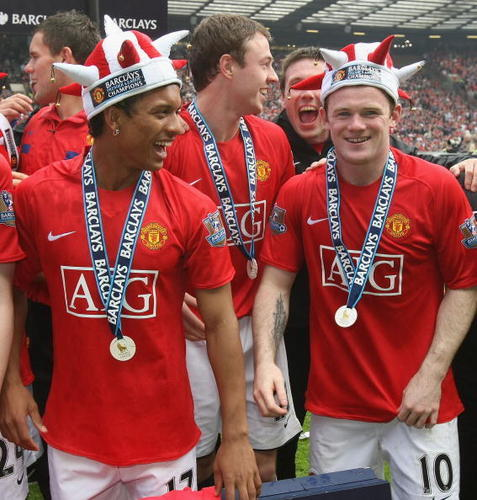 Manchester United 壁紙 titled Premier League Champions 08/09