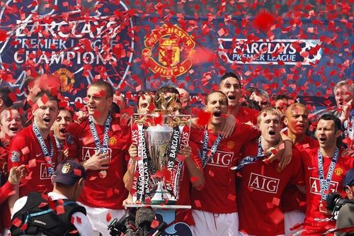 Manchester United achtergrond entitled Premier League Champions 08/09