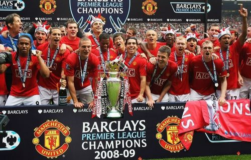 Manchester United Обои titled Premier League Champions 08/09