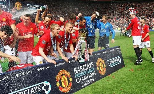 Manchester United پیپر وال entitled Premier League Champions 08/09