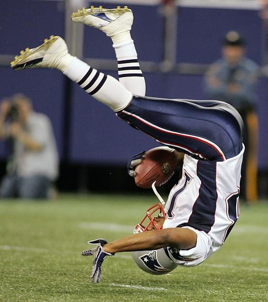Sports Cards And Memorbilia Images Randy Moss Takes A Tumble