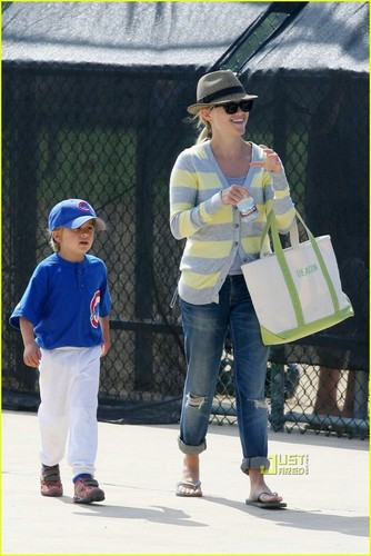 Reese with her son Deacon