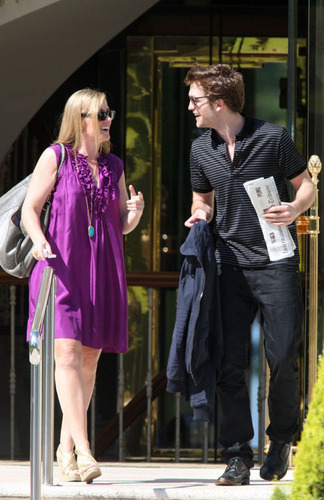 Robert Pattinson leaving the Eden Roc hotel - May 19