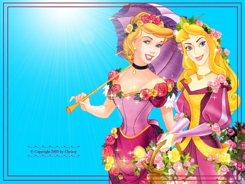 Sleeping Beauty and Cinderella achtergrond