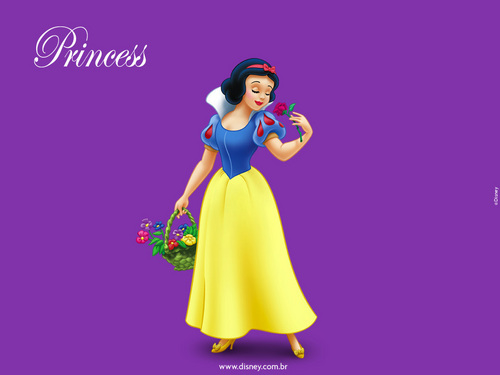 Snow White and the Seven Dwarfs wallpaper containing a bridesmaid titled Snow White Wallpaper