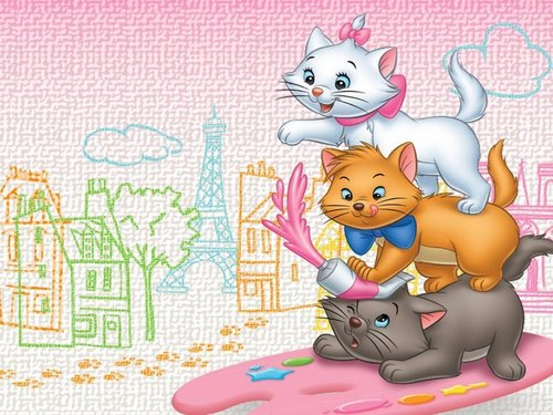 The Aristocats karatasi la kupamba ukuta possibly with anime called The Aristocats karatasi la kupamba ukuta