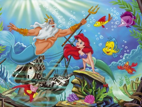 La Sirenetta wallpaper titled The Little Mermaid wallpaper
