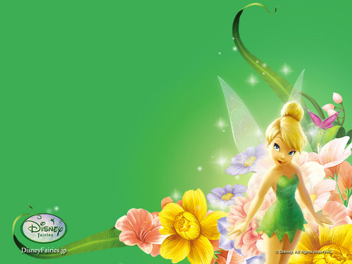 Tinkerbell پیپر وال with a bouquet called Tinkerbell پیپر وال