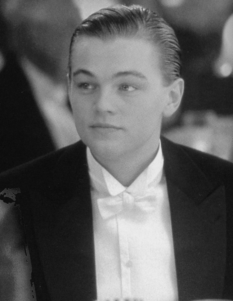 Titanic scenes in black & white