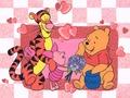 Winnie the Pooh Valentine karatasi la kupamba ukuta