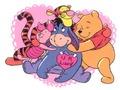 Winnie the Pooh karatasi la kupamba ukuta