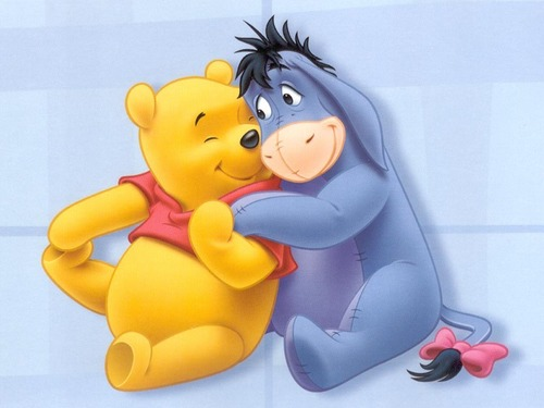 winnie the pooh wallpaper entitled Winnie the Pooh and Eeyore wallpaper
