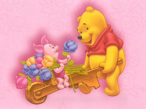 Winnie the Pooh achtergrond probably with anime entitled Winnie the Pooh and Piglet achtergrond