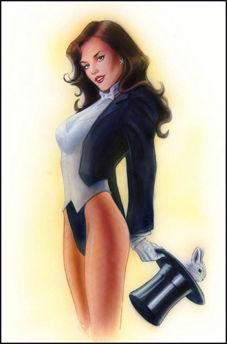 Wonder Woman achtergrond with a hip boot titled Wonder