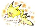 pikachu and pichu - raichu fan art