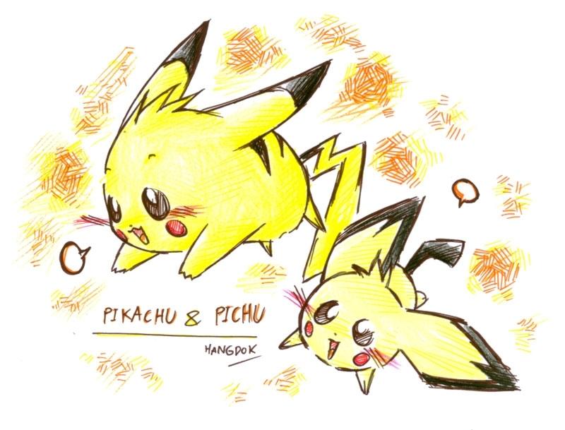 Raichu Pikachu And Pichu