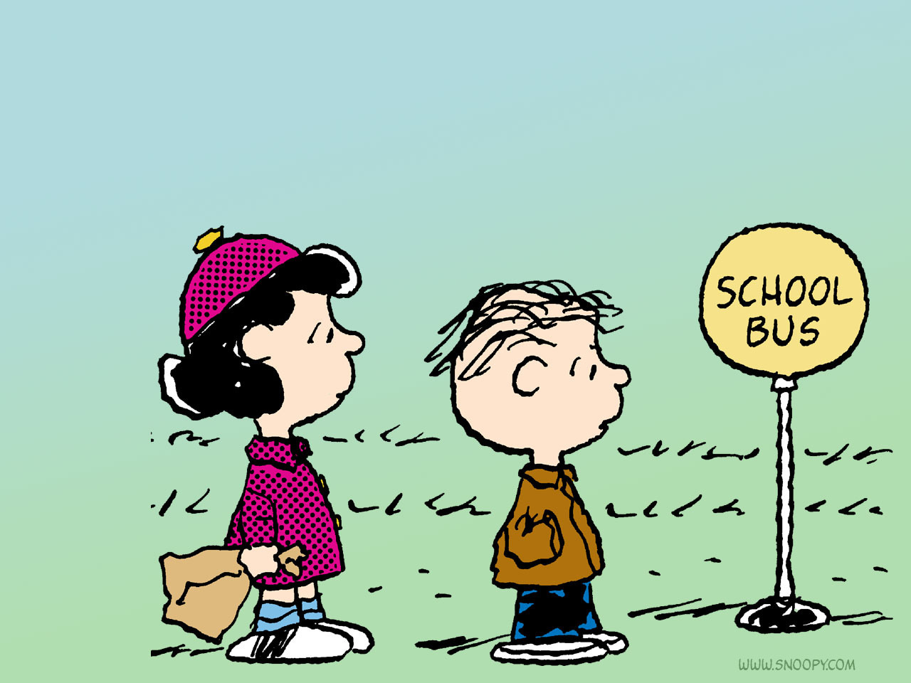 school bus linus and lucy - Peanuts Wallpaper (6273388) - Fanpop