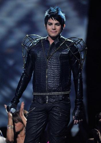 Adam dressed to perform with KISS