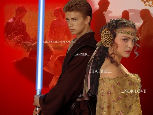 Anakin and Padme fond d'écran