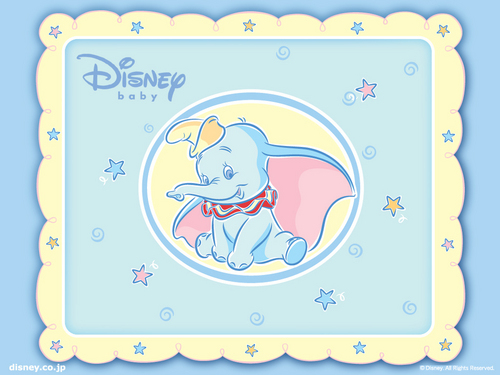disney wallpaper titled Baby Dumbo wallpaper