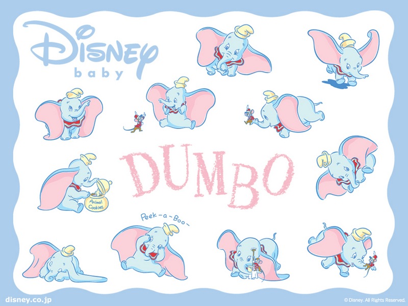 wallpaper baby disney. Baby Dumbo Wallpaper - Disney