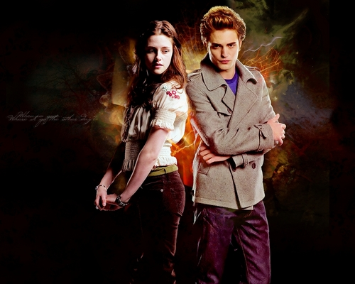 Bella & Edward Обои
