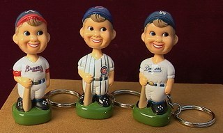 Bobblehead Baseball Players Keychains