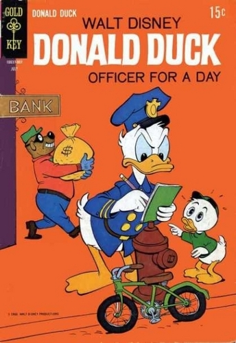Donald pato Officer for a día Comic Book