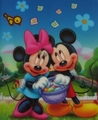 Easter Mickey mouse and Minnie mouse