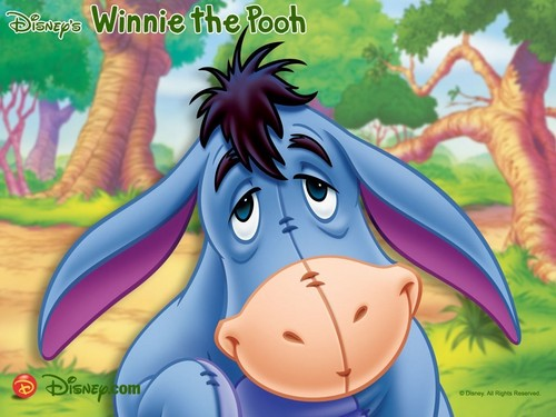 Winnie the Pooh wallpaper probably containing Anime entitled Eeyore wallpaper