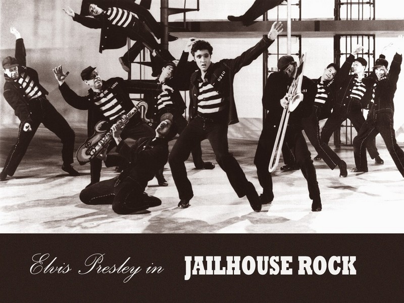 elvis presley wallpapers. Elvis Jailhouse Rock Wallpaper