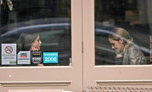 Emma Watson & Kaya Scodelario at Gourmet Burger cozinha in Hampstead May 18