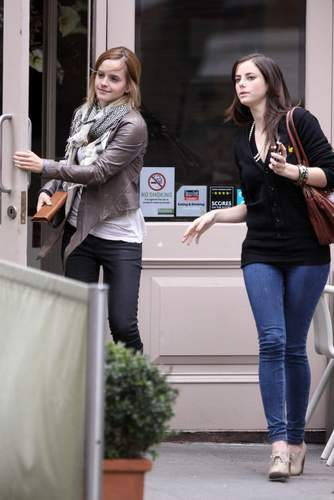 Emma Watson & Kaya Scodelario at Gourmet Burger кухня in Hampstead May 18