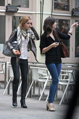 Emma Watson & Kaya Scodelario at Gourmet Burger cocina in Hampstead May 18