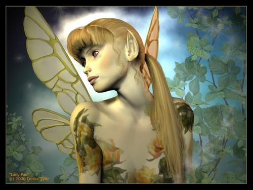 Fairies wallpaper probably containing a portrait called Fairy Wallpaper