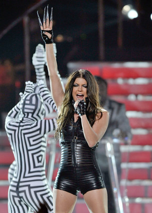 fergie and the Black Eyed Peas perform