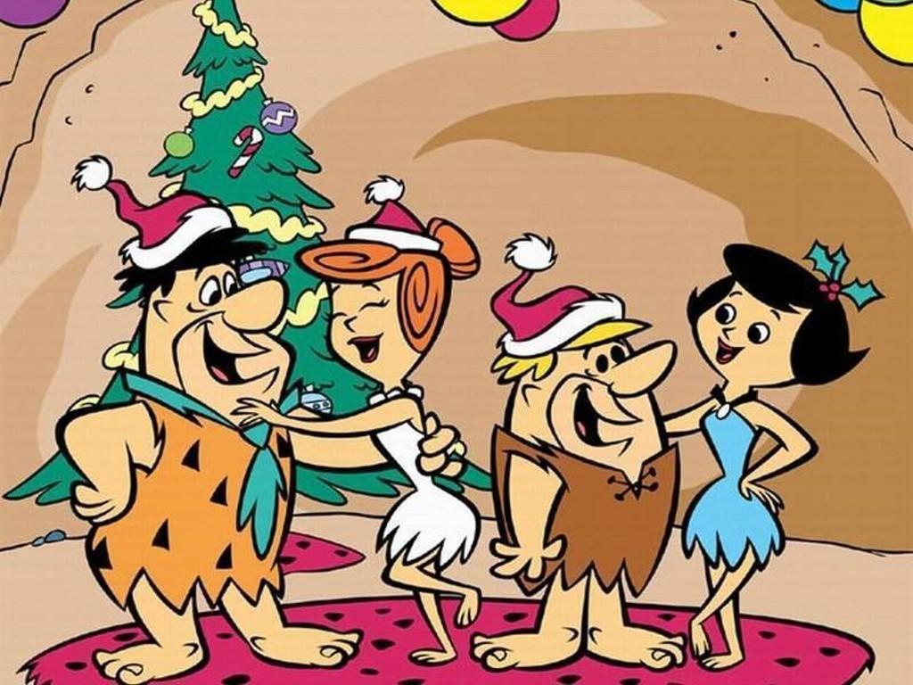 Flintstones Christmas پیپر وال