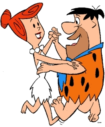 The Flintstones wallpaper containing anime called Fred and Wilma Flintstone