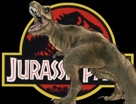 Jurassic Park karatasi la kupamba ukuta probably with a triceratops called Jurassic Park