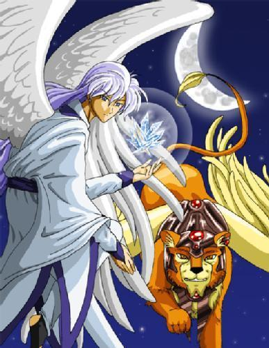 Cardcaptor Sakura wolpeyper with anime called Kerberos & Yue
