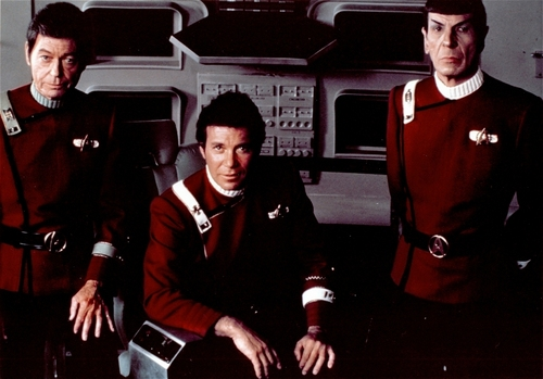 Kirk,Spock and Bones