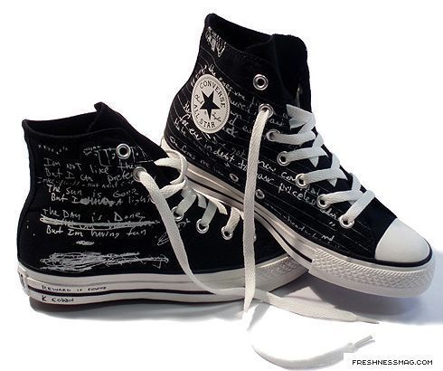 Kurt Cobain converse's - converse Photo