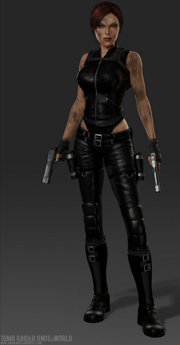 Tomb Raider wallpaper with a hip boot entitled Lara Croft Doppelganger