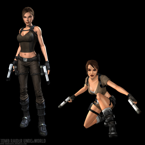 Lara Croft Другой мир and Lara Croft Legend