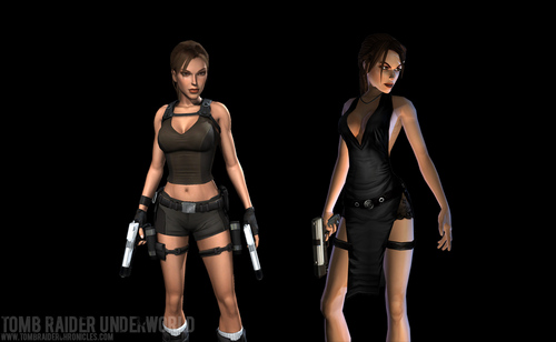 Lara Croft anjos da noite and Lara Croft Legend
