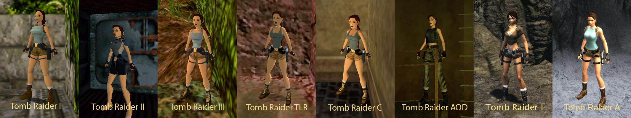 Lara Croft through the years