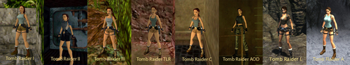 Lara Croft through the years