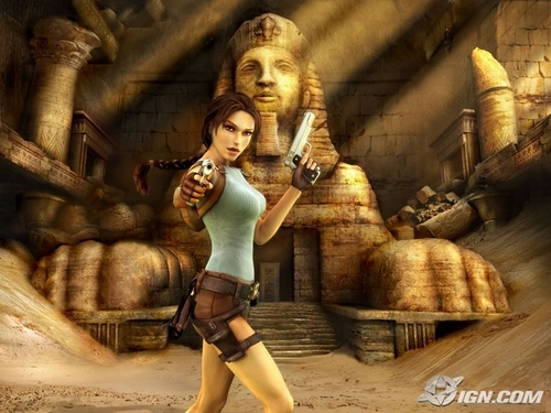 Tomb Raider wallpaper possibly containing a hip boot and a stocking titled Lara Croft