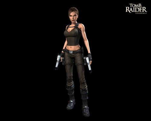 Tomb Raider wallpaper possibly containing a well dressed person, a legging, and a hip boot called Lara Croft