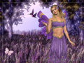 Lavendar Fairy Wallpaper
